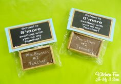 Kitchen Fun With My 3 Sons: Back to School Chalkboard S'mores Teacher Gift with FREE Printable!