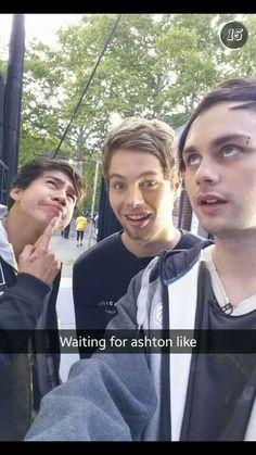 Haha idk guys Luke looks pretty thrilled