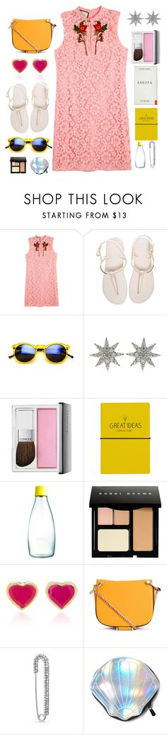"""My cute Dress!"" by piedraandjesus on Polyvore featuring moda, Gucci, Havaianas, Bee Goddess, Clinique, Wild & Wolf, Retap, Bobbi Brown Cosmetics, She Bee y Bling Jewelry"
