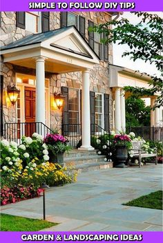 13 New Home Worthy Flower Bed Landscape Ideas Landscaping Jobs, Landscaping With Rocks, Front Yard Landscaping, Different Types Of Grass, Outdoor Areas, Outdoor Structures, Landscape Design, Garden Design, Bird Bath Garden