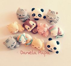 Cute polymer clay animals!