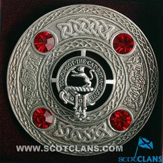 Chattan Clan Crest Pewter Plaid Brooch