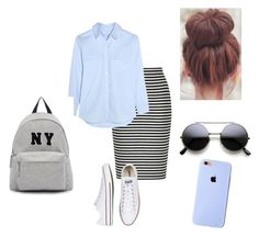 """""""Cute but casual"""" by lizgirl0805 on Polyvore featuring Equipment, Converse, Joshua's, women's clothing, women's fashion, women, female, woman, misses and juniors"""