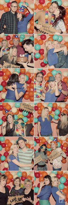 balloon party photo booth
