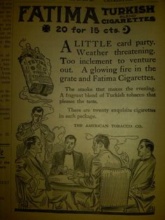 "Another cool ""College Topics"" ad for Fatima Cigarettes."
