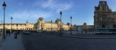 The Louvre. - Panoramic view of the Louvre.