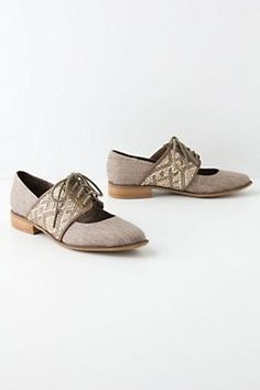 Esther Woven Oxfords - Anthropologie