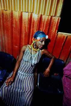 Fela Kuti's Wife at the Shrine, Lagos, 1978 | ph: Adrian Boot