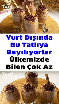 Mousse, Turkish Delight, Turkish Recipes, Tiramisu, Cereal, Diy And Crafts, Cheesecake, Pudding, Breakfast