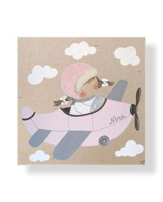 Cuadros Infantiles hechos de forma Artesanal. Personaliza este cuadro infantil artesanal con el color que más te guste o con el nombre de la niña.