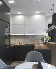 21 Modern Kitchen Area Suggestions Every Residence Cook Requirements to See Kitchen Room Design, Modern Kitchen Design, Living Room Kitchen, Kitchen Layout, Home Decor Kitchen, Interior Design Kitchen, Home Kitchens, Kitchen Counter Design, Kitchen Ideas