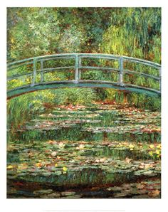 Claude Monet--fell in love with him the first time I saw a picture of this painting. I have a photo of me on this very bridge!! It was a dream come true.