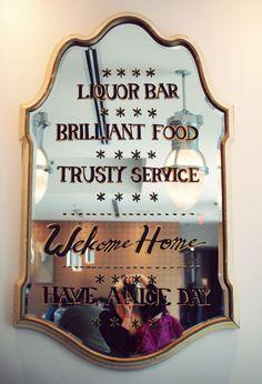 #handpainted #mirror #lettering