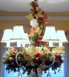 christmas chandelier decorating christmas chandelier holiday designs decorating ideas hgtv rate - How To Decorate A Chandelier For Christmas