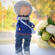 Купить Мальчик - кукла ручной работы, ручная работа, ручная авторская работа, интерьерная кукла