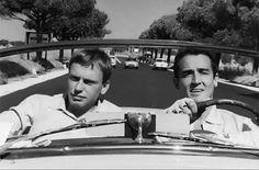 Jean-Louis Trintignant et Vittorio Gassman