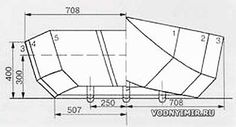 Теоретический чертеж корпуса лодки