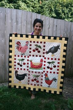 "A Little Bit Biased, such cuteness! From the checkered borders to hex ""wire"" quilting...nicely done!"