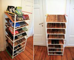 IKEA Antonius frames into shoe rack