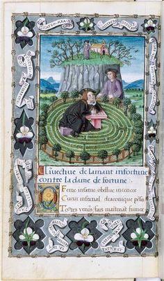 L'Amant infortuné de François Habert Description : L'Invective de l'Amant infortuné contre la Dame de fortune. 1520-1530 Ecole : Ecole française