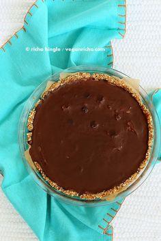 Chocolate Chip Pudding Pie with Chocolate Ganache and Almond Date Crust. Vegan Glutenfree Soyfree Recipe   Vegan Richa