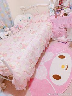 Cute Room Ideas, Cute Room Decor, Pastel Room, Pink Room, Kawaii Bedroom, Pretty Room, Gamer Room, Room Setup, Aesthetic Room Decor