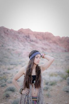 Bohemian,twisted,turban-Eggplant and gray print by CristaBelasBoutique on Etsy $12.95