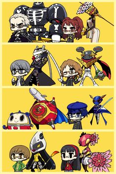 Persona 4 Character with their Persona