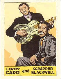 Leroy Carr & Scrapper Blackwell by R. Crumb