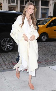Gigi Hadid from The Big Picture: Today's Hot Photos  Style star! The model is seen on the streets of NYC wearing her tan Stuart Weitzman mules.