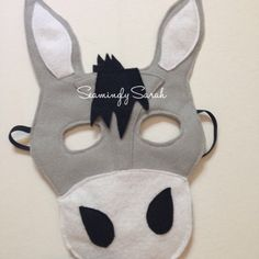 Kids Felt Donkey Mask Handmade Kids Childs by SeaminglySarah