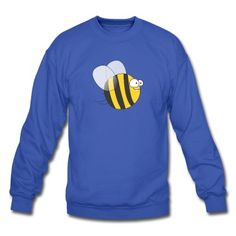 Cool & Crazy Funny Bee / Bumble Bee (Sweet & Cute) Sweatshirt #cloth #cute #kids# #funny #hipster #nerd #geek #awesome #gift #shop Thanks.