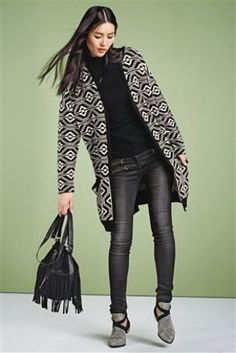 Aztec Longline Cardigan from Next