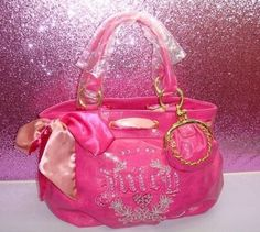 pink, bag, and fashion image Juicy Couture Handbags, Couture Bags, Purses And Handbags, Juicy Couture Jewelry, Luxury Purses, Luxury Bags, Beyonce, Rihanna, Pretty Pink Princess