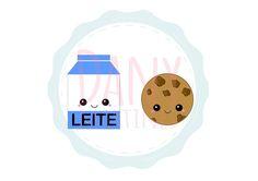 Leite e Biscoito Kawaii