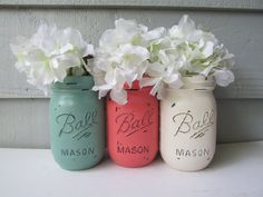 Hey, I found this really awesome Etsy listing at https://www.etsy.com/listing/194733753/painted-and-distressed-ball-mason-jars