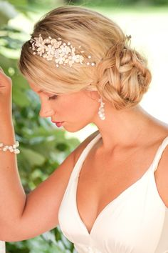 """Hydrangea"" Bridal Headband by Aubre's Bridal"