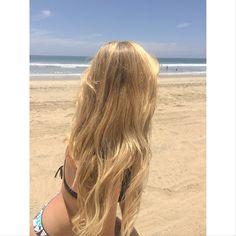 Blonde beach hair