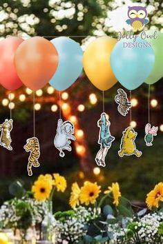 Idee Baby Shower, Shower Bebe, Baby Shower Parties, Baby Shower Themes, Baby Boy Shower, Unique Baby Shower, Winnie The Pooh Themes, Winnie The Pooh Birthday, Winnie The Pooh Classic