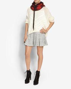 10 Crosby Derek Lam Godet Skirt: Grey | Shop IntermixOnline.com