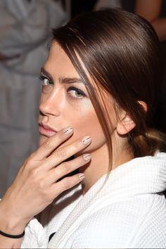 Stripe Detail Spring Nail Trend 2014