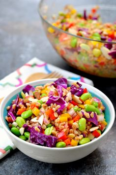 12. Rainbow Farro Salad #healthy #lettucefree #salad #recipes http://greatist.com/eat/salad-recipes-without-lettuce