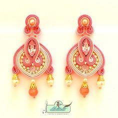 Soutache Earrings Bridal Swarovski Crystal by DILETTANTEsoutache, $160.00