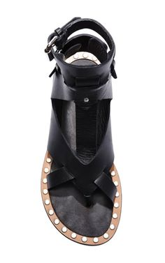 Circus Maximus Jeret Shoes In Black by Isabel Marant for Preorder on Moda Operandi