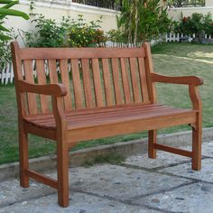 Marvelous Wooden Garden Benches #5 Vifah Outdoor Wood Garden Bench
