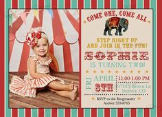 Circus Birthday Invitation Circus Birthday by SweetBeeDesignShoppe, $15.00