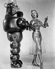 "Kitsch: Visions of Space – Part 2 - Ultra Swank-- from ""Forbidden Planet"", 1956, Robby the Robot and Anne Francis"