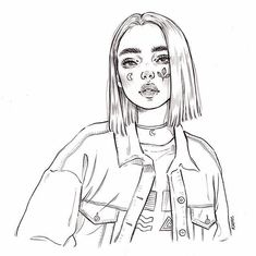 Art Sketches Girl 👨🎨👩🎨 DIY craft hobby ideas for beginners? Sketch & D Girl Drawing Sketches, Art Drawings Sketches Simple, Pencil Art Drawings, Cute Drawings, Sketch Art, Tumblr Girl Drawing, Tumblr Sketches, Girl Drawings, Drawing Faces