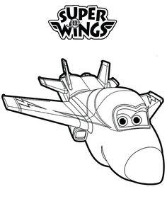 ausmalbilder super wings jet ausmalen | malvorlagen für