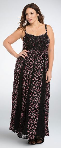 This Pretty In Pink Allover Plus Size Lace Dress Is Fit For Your
